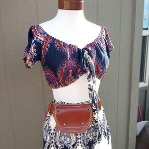 Bohemian Crop Top and Maxi Skirt SET